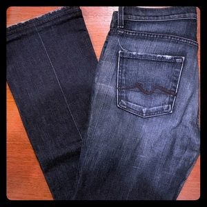 High waist bootcut jeans by 7